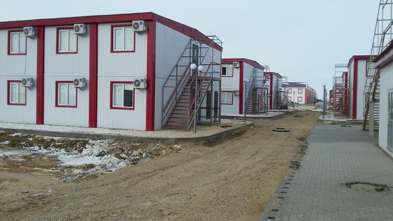 Рабочий посёлок. Казахстан